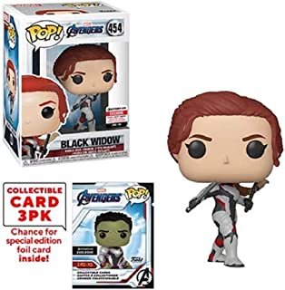 Funko Pop! Marvel Avengers: Endgame Black Widow Vinyl Figure with Collector Cards - Entertainment Earth Exclusive