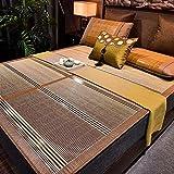 Colchón de enfriamiento Topper Cubierta de bambú de bambú con Funda de Almohada Mats de Cama para Dormir de Verano...