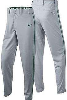 Swingman Piped Baseball Pants - Gray/Green Youth Boys (L)
