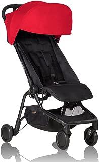 Mountain buggy nano V2 旅行婴儿推车 红色,适用年龄:新生儿-4岁