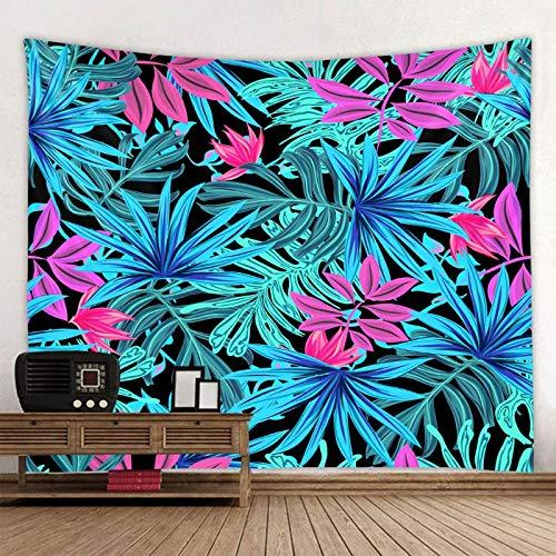 KHKJ Tapiz de Mandala con Estampado de Hoja de Planta, Tapiz psicodélico para Colgar en la Pared, tapisserie Bohemio, Alfombra de Pared Floral, Toalla de Playa A6 200x180cm