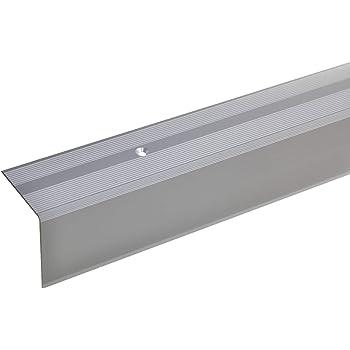 135cm Selbstklebendes Treppenkanten-Profil Treppenkanten-Profil Treppenstufen-Profil aus Alu acerto 51089 Aluminium Treppenwinkel-Profil gold * Rutschhemmend * Robust * Leichte Montage 52x30mm