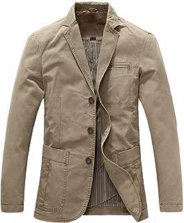 Men's 3 Button Sport Coat Casual Cotton Lightweight Suit Blazer