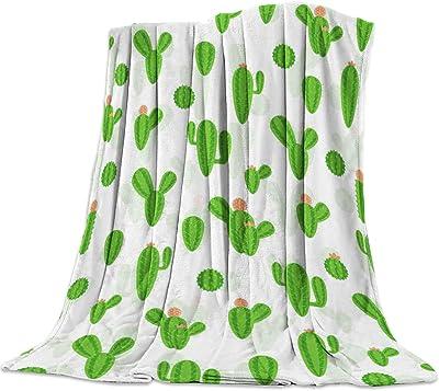 60 x 40 Fleece Blankets Kess InHouse Angelo Cerantola Luscious Green Blue Digital Throw