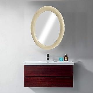 Majik Newest Arrival Plastic Oval Shape Vanity Wall Mirror for Bathroom Wash Basin Bedroom Living Room Area Home Décor Mir...