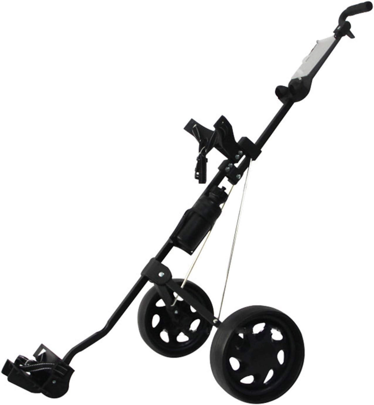 Easy-to-use Golf Push Cart Max 41% OFF Carts 2 Folding Wheel Trolley Blac