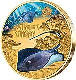 Power Coin Stingray Raya Australia Deadly Dangerous 1 Oz Moneda Oro 100$ Tuvalu 2021