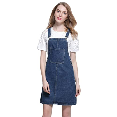 03ab026502 AvaCostume Women s Adjustable Shoulder Strap Denim Bib Overall Dress