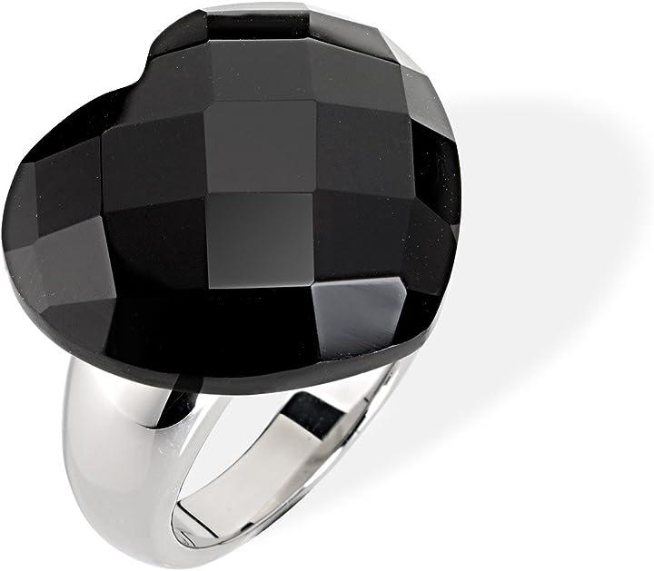 Anello cuore nero morellato , acciaio inossidabile, donna SCU10012