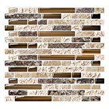 Peel and Stick Backsplash Tile for Kitchen Adhesive Stick on Backsplash Laundry Bathroom Textured...