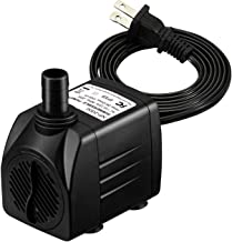 Homasy 400GPH Submersible Pump 25W Ultra Quiet Fountain Water Pump with 5.9ft Power Cord,..