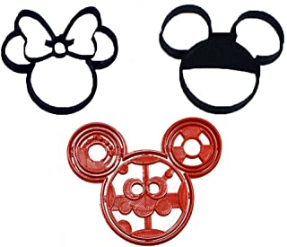 OH TOODLES MINNIE MICKEY MOUSE CLUBHOUSE SET OF 3 SPECIAL OCCASION COOKIE CUTTERS FONDANT BAKING TOOL 3D PRINTED USA PR1038