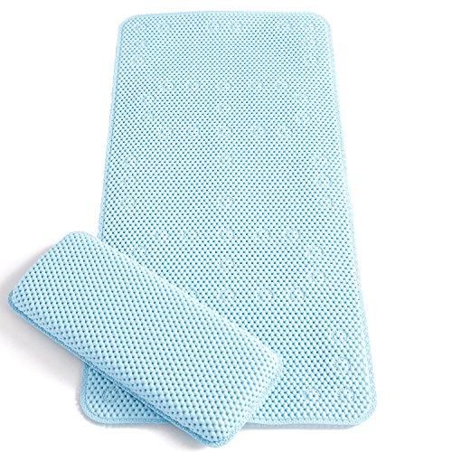 Clevamama Full Length Bath Mat with Kneeling Cushion
