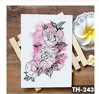 DRTHUKG Tattoo Sticker Rose Lace Crystal Clock Waterproof Temporary Tattoo Sticker Star Lily Flash Tattoos Arm Tatoo R