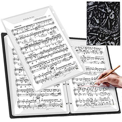 【ダサズニカケーる】(楽器のイラスト 脱着式)楽譜を取り出さずに書き込み可能 リングファイル A4 音楽ファイル (リングファイル(40ページ 着脱式), 楽器のイラスト)