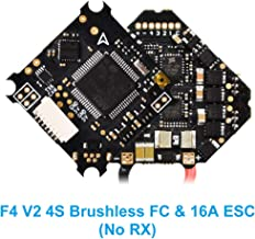 BETAFPV Upgraded F405 V2 FC 4S Brushless Flight Controller and BLHeli_32 16A ESC OSD Smart Audio No Receiver with XT30 Cable for Brushless Beta85X Micro Quadcopter Cine Whoop Drone