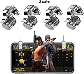 Onyehn 2Pairs Upgraded Version Metal Button Smart Phone Game Trigger L1 R1 Shooter Gamepad Joysticks Shooting Game for PUGB Controller Game Pad Accessories