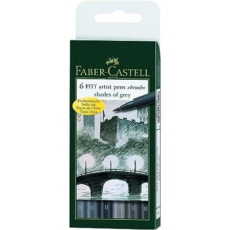 Faber-Castell 167104 Feutre PITT artist pen nuances gris étui de 6