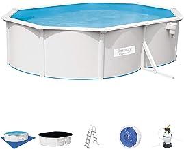 Bestway 56586D - Piscina Desmontable de Acero Hydrium 500 x 360 x 120 cm, Depuradora de Arena de 3.028 litros/Hora