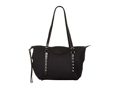 Rebecca Minkoff Bowie Small Nylon Tote (Black) Handbags