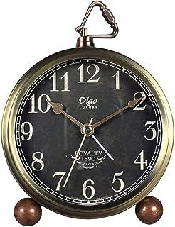 Retro Alarm Clock, Cookadvan Twin Bell Alarm Clock with Backlight Metal Non Ticking Desk Clock with HD Glass Lenses, Batte...