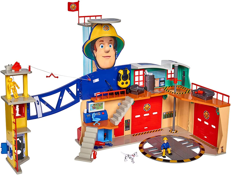 Simba 109251059 Feuerwehrmann Sam Mega-Feuerwehrstation XXL