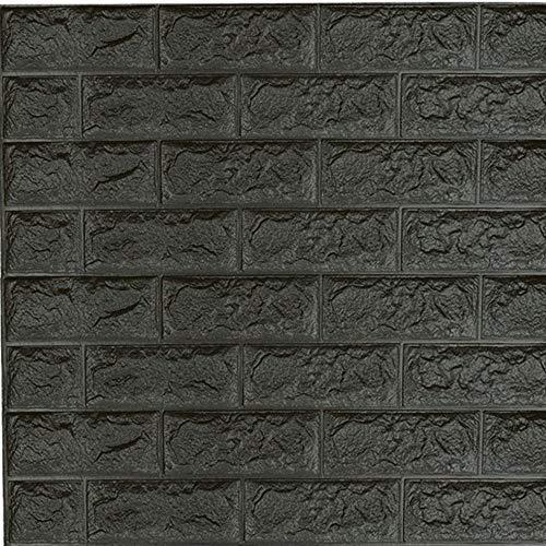 Papel tapiz de ladrillo 3D, adhesivos de pared de ladrillo desmontables de bricolaje, adhesivo de pared de espuma PE autoadhesivo insonorizante, para sala de estar, dormitorio, pared de TV, 70x77 cm