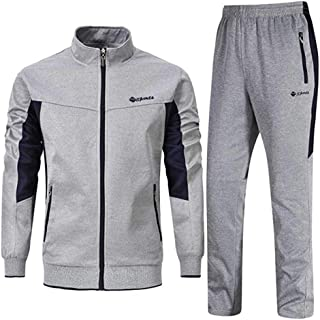 Men's Tracksuit Set 2 Piece Athletic Sports Casual Full Zip Active wear Sweatsuit