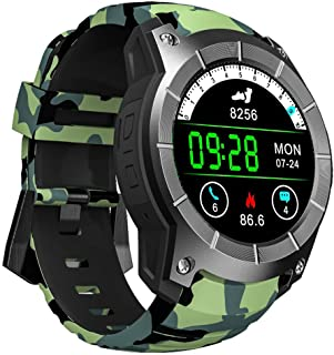 GLO BUY Bluetooth GPS Multi-Function Sports Watch MTK2503 Heart Rate Monitor Fitness Tracker Smart Watch Support Sim Card,Green