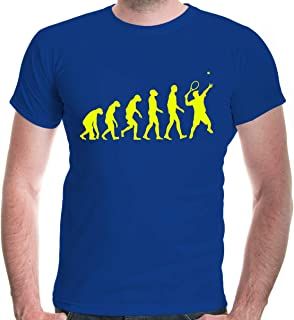 buXsbaum Mens T-Shirt The Evolution of Tennis