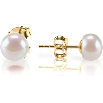 PAVOI Sterling Silver AAA+ Quality Handpicked Freshwater Cultured Stud Pearl Earrings