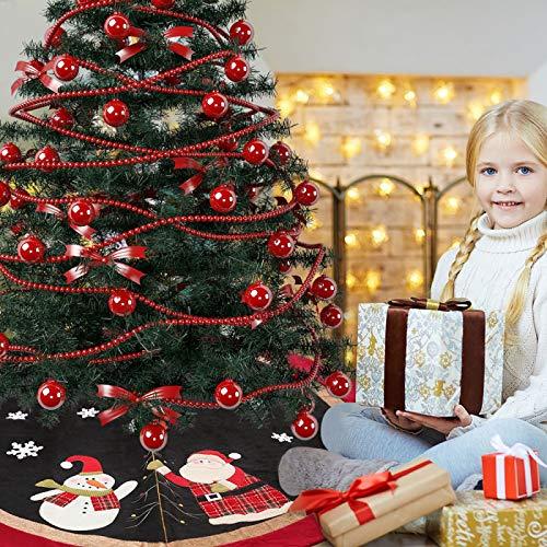 YINU Nouveaux Produits de décoration pour Les Jupes d'arbre de Noël 120cm Petite Robe d'arbre Tablier de Fond d'arbre Vieil Homme Jupe d'arbre |