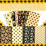 Breling 8 Stück Sonnenblumen-Stoff Helianthus-Muster Stoff