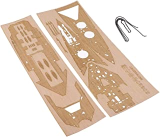 dailymall Natural Wooden Deck for 1 1:350 Scale British HMS Prince of Wales Model with Anchor Chain