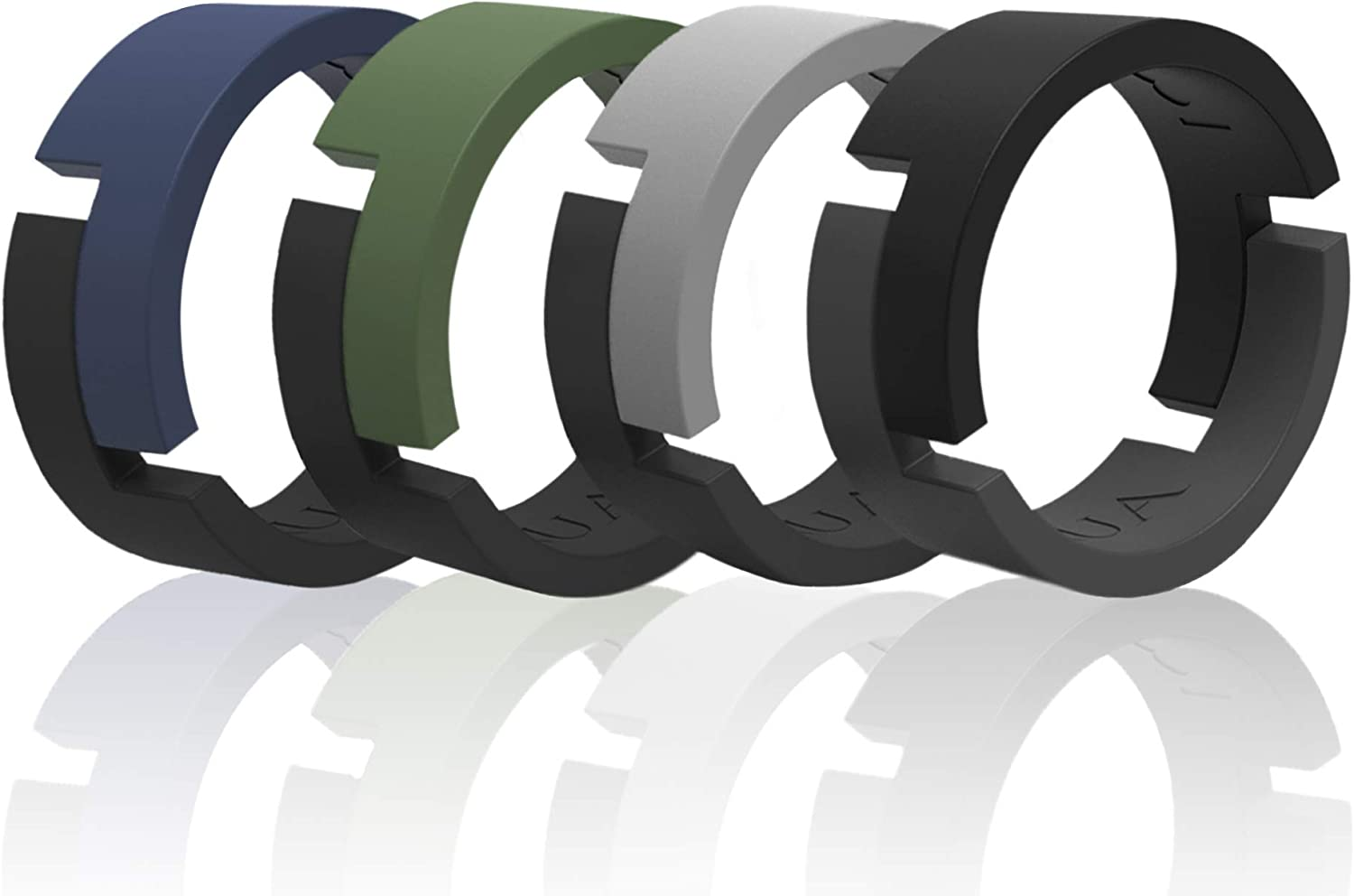 Arua Breathable Sales of SALE items from new works Silicone Wedding Rings Rubber for Men 4-Pack Portland Mall