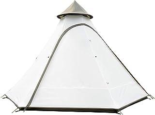 Vattentäta dubbla lager tipi-tält, utomhus camping indisk stil skydd lusthus camping festivaler vandring utomhus 4-6 perso...