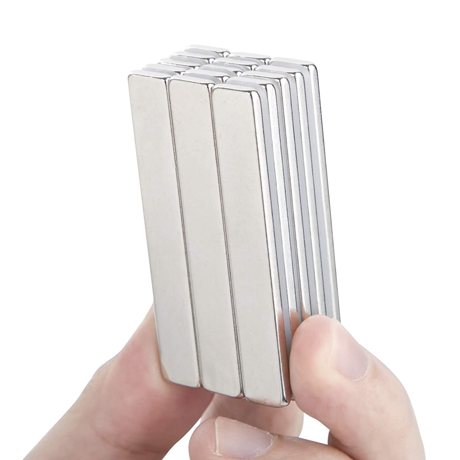 Pack of 15 60 x 10 x 3 mm Craft and Office Magnets NBZXSYMAG Powerful Neodymium Bar Magnets,Strong Permanent Rare Earth Magnets for Fridge Scientific DIY Building