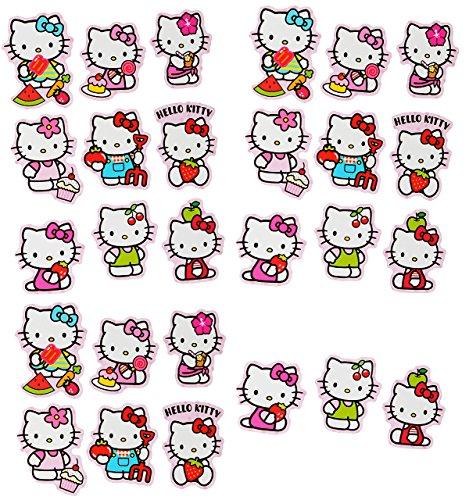 alles-meine.de GmbH 27 TLG. Set _ Aufkleber / Sticker -  Hello Kitty  - selbstklebend - für Mädchen - Katzen / Kätzchen Stickerset Kinder - z.B. für Stickeralbum / Figuren - Ha..