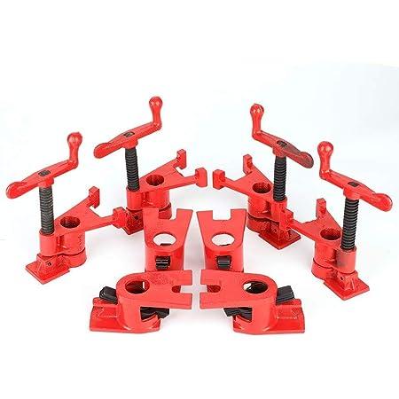 4 Pezzi Set Morsetti per Legno, Morsetti a Sgancio Rapido Clamp Wood Heavy Duty per Incollaggio del Legno e Perforazione Banco da Lavoro