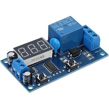 YF-4 Time Delay Relay Tarjeta de m/ódulo de rel/é de retardo del temporizador de ciclo ajustable digital DC 12V