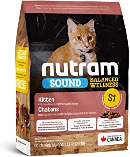 طعام قطط صغيرة اس 1 ساوند متوازن صحي من نوترام، 1.13 كغم