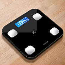 NYDZDM Electronic Scale Intelligent Body Fat Called Household Small Adult Precision Electronic Scales Cute Small Weight Scale (Color : Black)