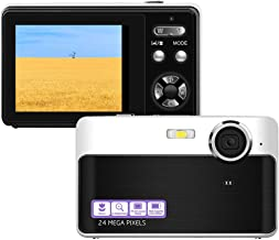 Digital Camera, 24MP Portable Point and Shoot Camera with...