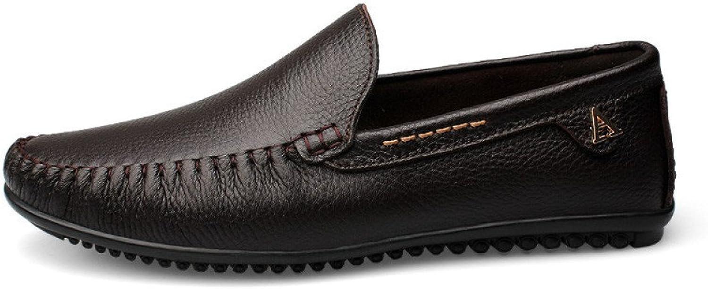 Men's Peas shoes Hand-Stitched Soft Sole Men's Leather shoes Business Men's shoes