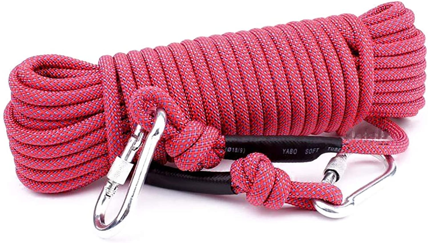 Climbing Rope Static Rope Outdoor Safety Lifeline Diameter 10.5mm Length 10 15 20 25 30 40 50 60m red