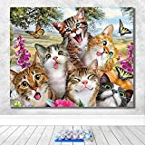 DIY Digital Oil Painting Set of Cute Little Animal Oil Painting Art Painting Living Room Bedroom Decoration -40X50CM-Framed