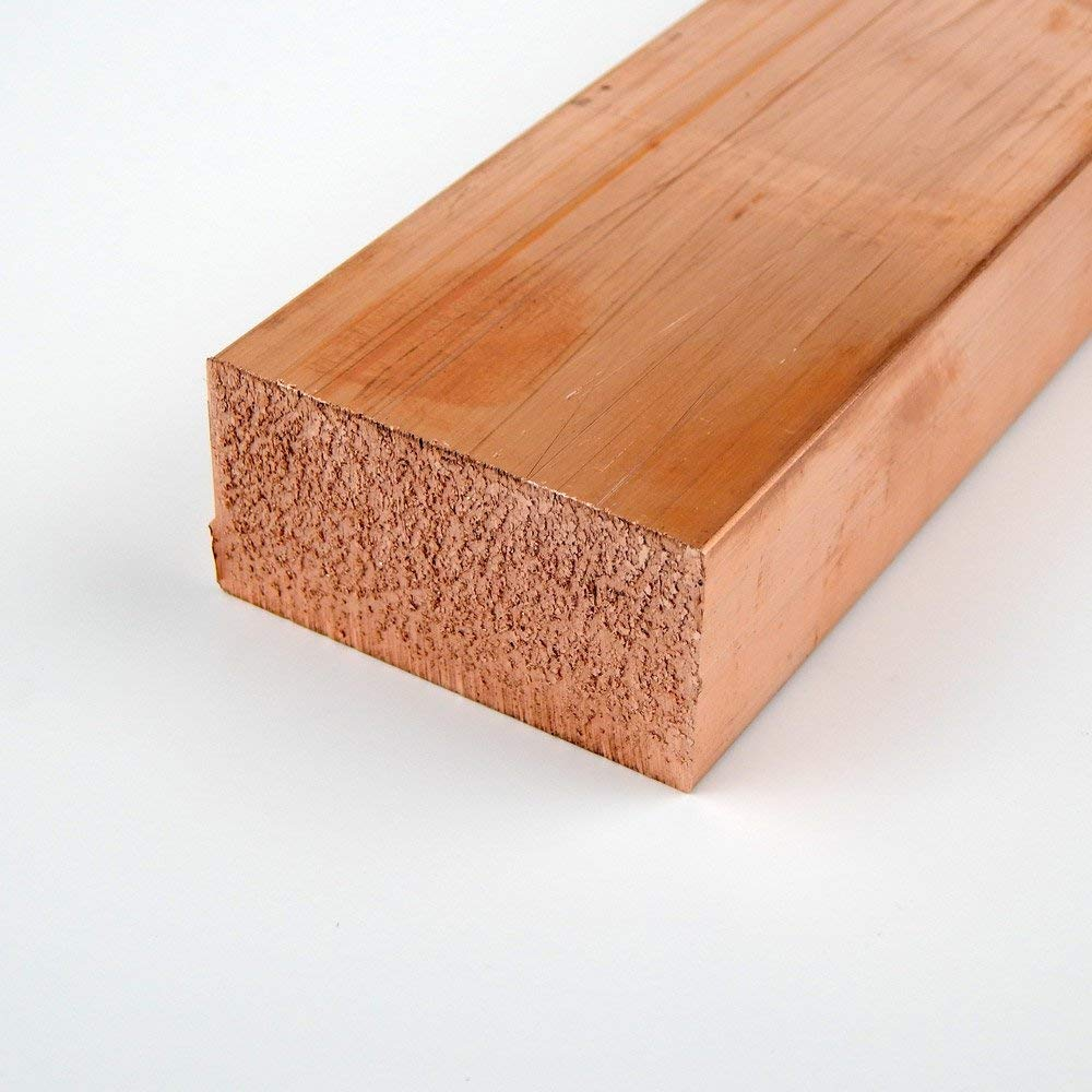 110 gift Copper Rectangular Bar Unpolished Temper New popularity Mill H02 Finish