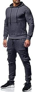 Men's 2 Piece Tracksuits Pleated Jogger Suit Casual Print Letter Sweat Sets Sports Suit Comfy Sweatsuits 2Pcs
