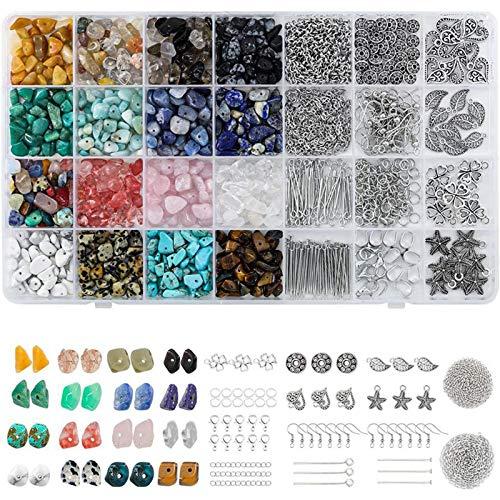 Chytaii - Juego de pendientes de 28 colores para herramientas de fabricación de joyas, accesorios para reparación de collares, joyas