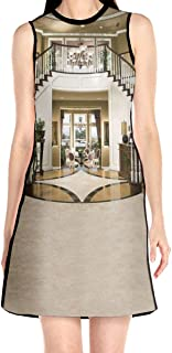 Women's Sleeveless Dress Luxury Palace Fashion Casual Party Slim A-Line Dress Midi Tank Dresses